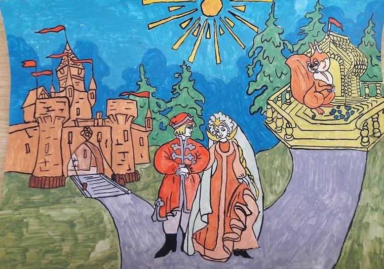 актриса рисунок к сказке о царе салтане картинки свитер или топ